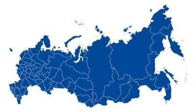 Obraz Mapa Ruské federace