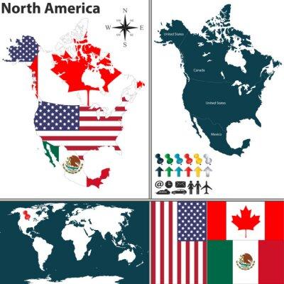 Obraz Mapa Severní Ameriky