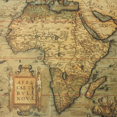 Obraz mapa starožitné mapa Afriky dutch kartografky Abraham Ortelius