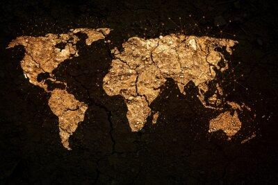 Obraz mapa světa na pozadí grunge