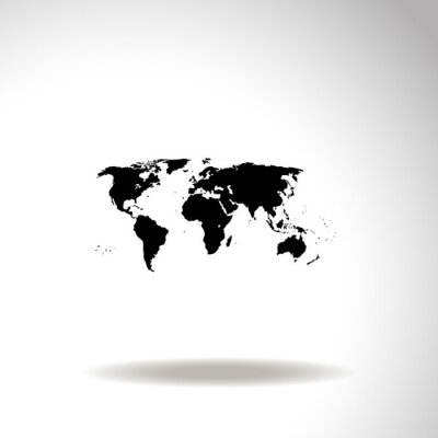Obraz Mapa světa vektorové ikony.