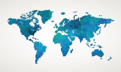 Obraz Mapa světa vektorové ilustrace abstraktní vzor
