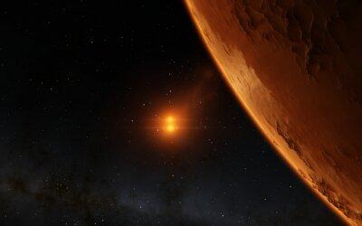 Obraz Mars vědecký ilustrace - planetární krajina
