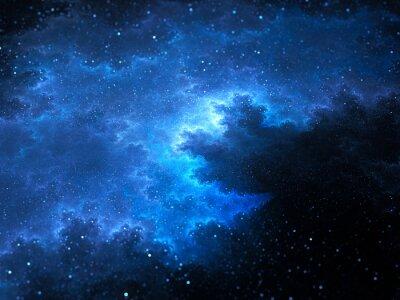 Obraz Megical prostor mlhovina fraktální s hvězdami