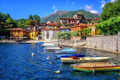 Mergozzo staré město, Lago Maggiore, Itálie