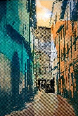 Obraz město Lucca, pohlednice