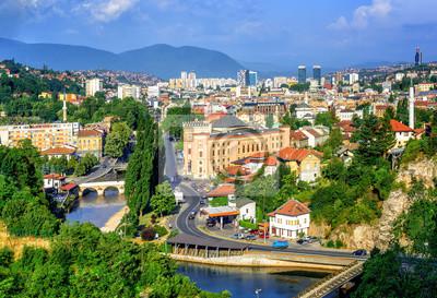 město Sarajevo, hlavní město Bosny a Hercegoviny
