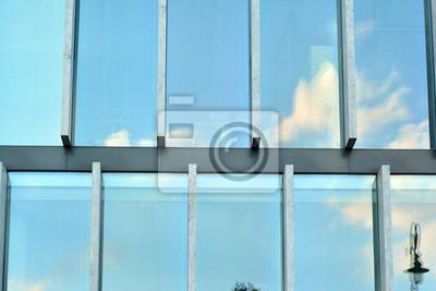 Obraz Městské abstraktní pozadí, detail moderní fasády skla, kancelářské budovy