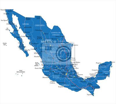 Mexiko mapa