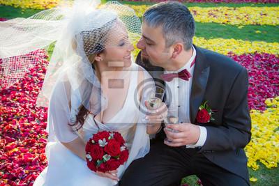 Milovníci slavit svatbu