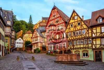 Miltenberg středověké staré město, Bavorsko, Německo