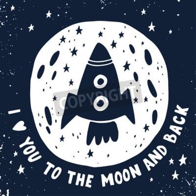 Obraz Miluji tě na Měsíc a zpět.