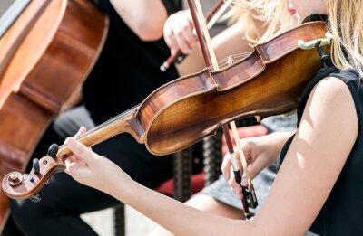Obraz mladá žena hraje na housle