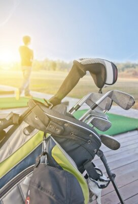 Obraz mládež cvičit golf