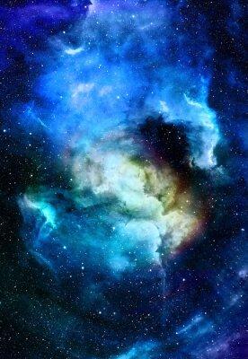 Obraz Mlhovina, kosmického prostoru a hvězdy, modré kosmického pozadí abstraktní. Prvky tohoto obrázku zařízeném NASA.