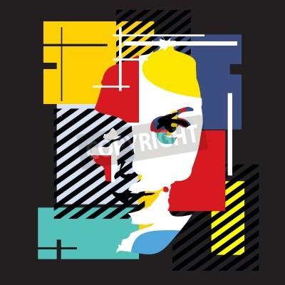 Obraz Móda dívka. Kubismus