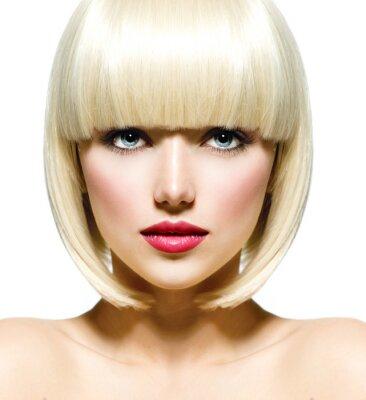 Obraz Móda Stylový krása portrét. Krásná dívka v tvář Close-up