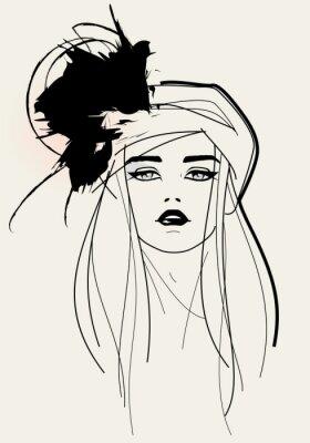 Obraz Modelka tvář / elegantní vzhled