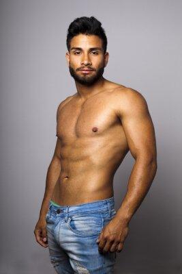 Obraz Modelo masculino musculoso con torzo desnudo