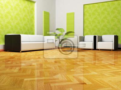 Moder interiér z obývacího pokoje, 3d render