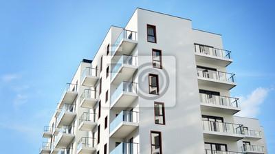 Obraz modern building with balconies