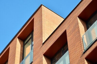 Obraz Modern condo building with huge windows