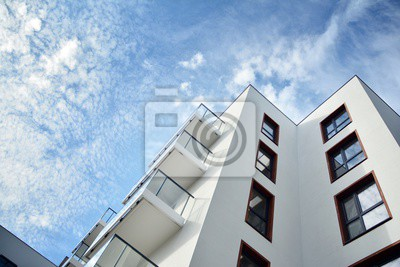 Obraz Modern European residential apartment buildings quarter. Abstract architecture, fragment of modern urban geometry.