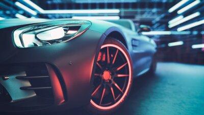 Obraz Moderní auta jsou ve studovně.