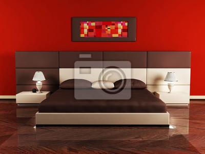 Moderní design interiéru ložnice