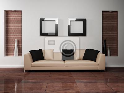 Moderní design interiéru obývací pokoj s pěkným pohovkou