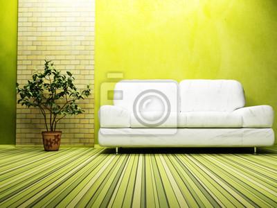 Moderní design interiéru obývacího pokoje