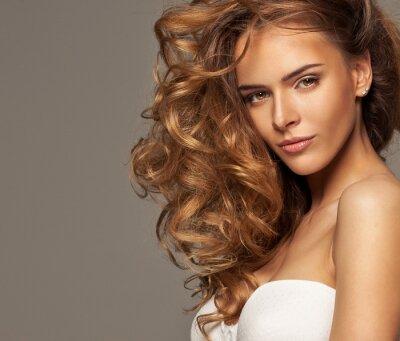 Obraz Módní fotografie blondýna krásy s přírodním make-upu
