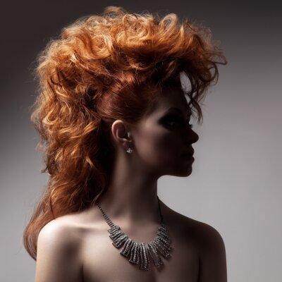 Obraz Módní portrét Luxusní žena se šperky.