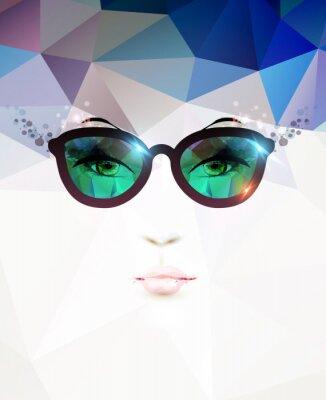 Obraz módní žena s brýlemi
