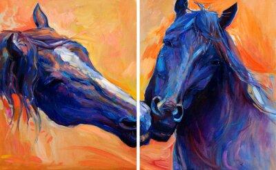 Obraz Modré koně