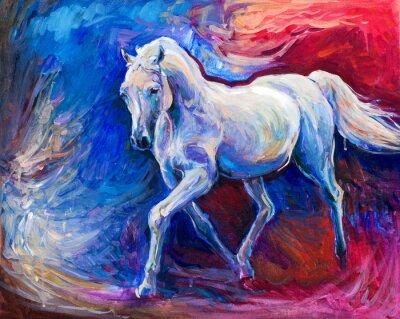 Obraz Modrý kůň