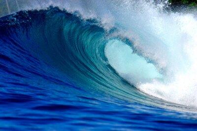 Obraz Modrý oceán surfování vlna