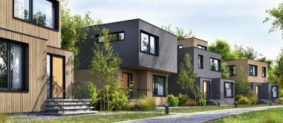 Obraz Modular homes exterior designs of modern architecture