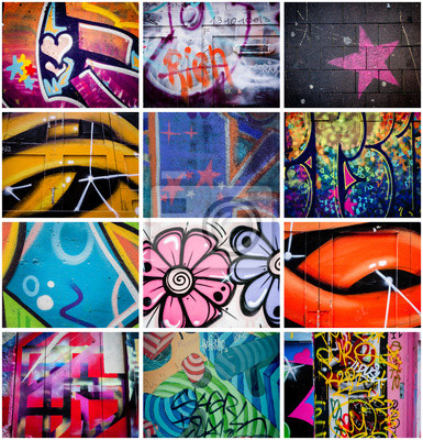 Obraz Montage de graffitis