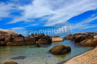 Obraz Moře krásné beachand čistá voda čerstvý vzduch studený bazén moře.