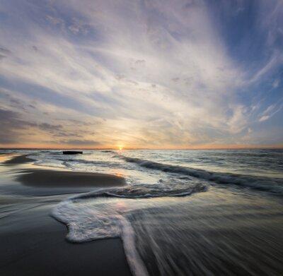 Obraz Morski pejzaż, Fale rozbijające się o morski Brzeg