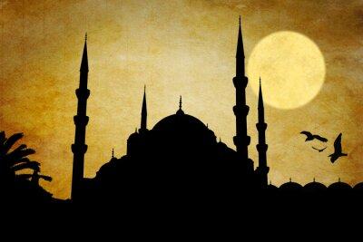 Obraz Moschea silueta