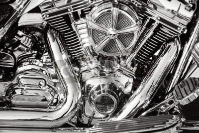 Obraz Motocykl s chromovanými částmi