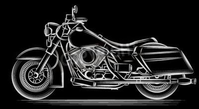 Obraz motocykl vektor