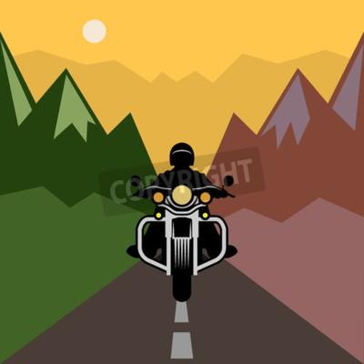 Obraz Motocyklové dobrodružství, vektorové ilustrace