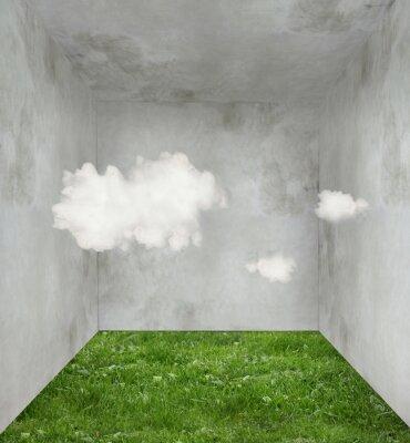 Obraz Mraky a trávy v pokoji