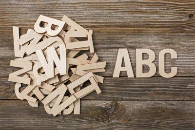 Obraz Mucchio di Lettere ABC