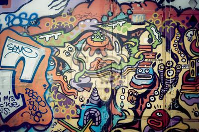 Obraz Mur de graf Colore