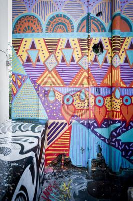 Obraz Mur de graffiti Colore