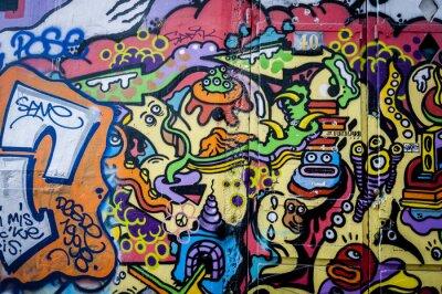 Obraz Mur de graffiti zábava